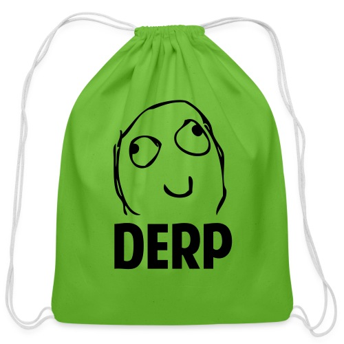 Derp - Cotton Drawstring Bag