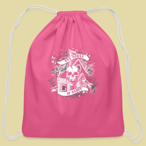 hoh_tshirt_skullhouse - Cotton Drawstring Bag