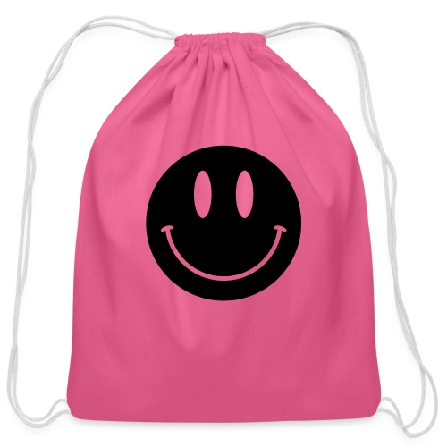 Smiley - Cotton Drawstring Bag