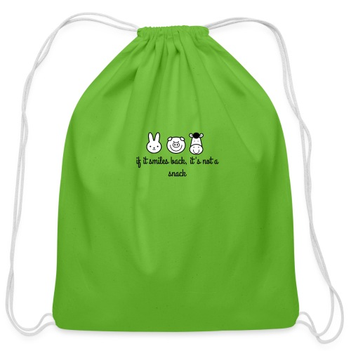 SMILE BACK - Cotton Drawstring Bag