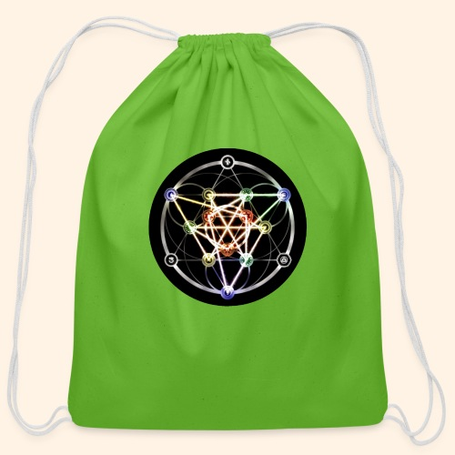 Classic Alchemical Cycle - Cotton Drawstring Bag