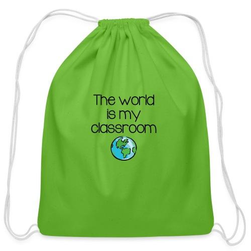 World Classroom - Cotton Drawstring Bag