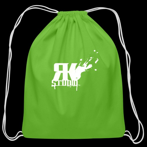 RKStudio White Logo Version - Cotton Drawstring Bag