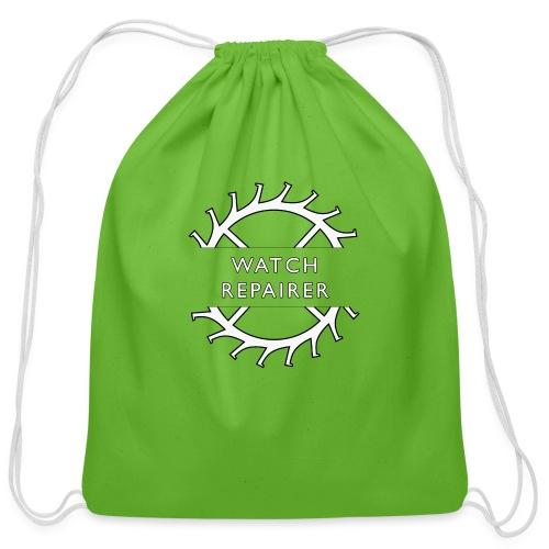 Watch Repairer Emblem - Cotton Drawstring Bag