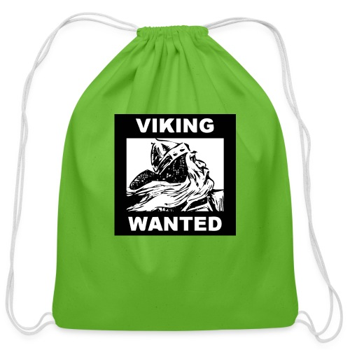 VIKING WANTED - Cotton Drawstring Bag