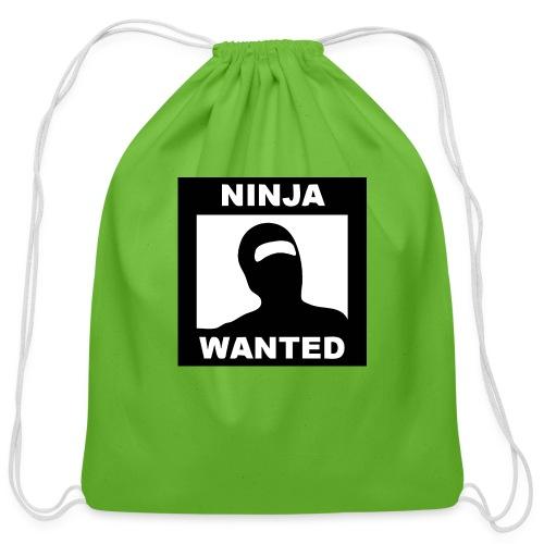Ninja Wanted - Cotton Drawstring Bag