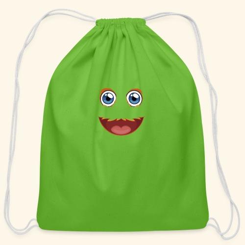 Fuzzy Puppet Face - Cotton Drawstring Bag