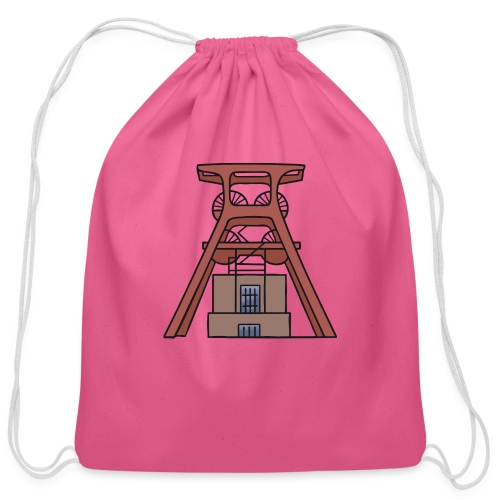 Zollverein Coal Mine Industrial Complex in Essen - Cotton Drawstring Bag
