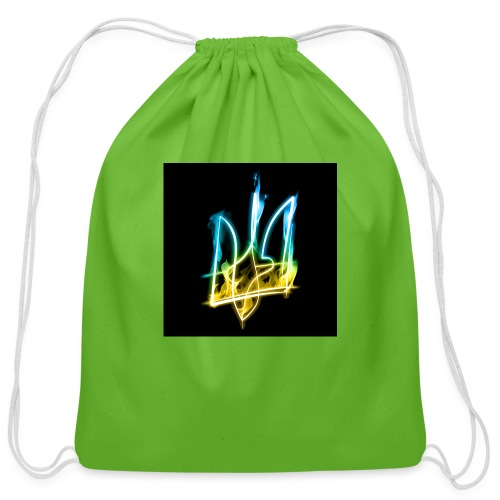 Burning Trident for button pins - Cotton Drawstring Bag