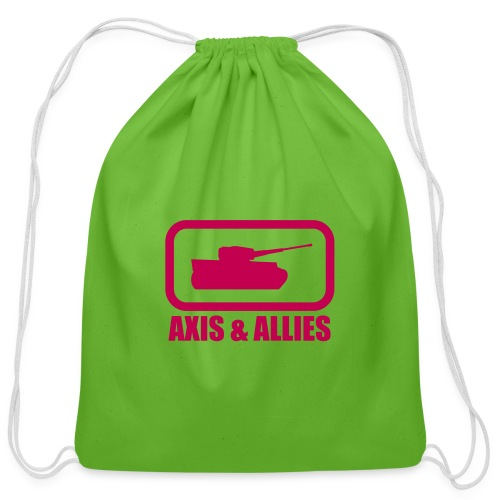 Tank Logo with Axis & Allies text - Multi-color - Cotton Drawstring Bag