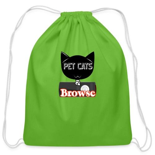 Pet Cats & Browse - Cotton Drawstring Bag