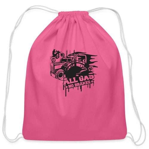 All Gas no Brakes - Cotton Drawstring Bag
