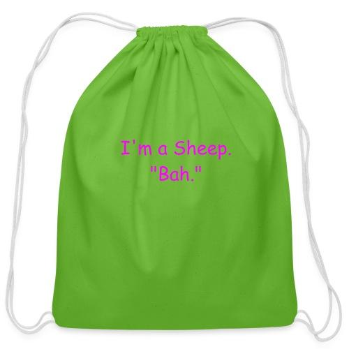 I'm a Sheep. Bah. - Cotton Drawstring Bag