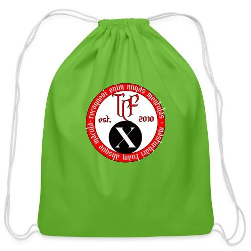 10th Anniversary Medallion - Cotton Drawstring Bag