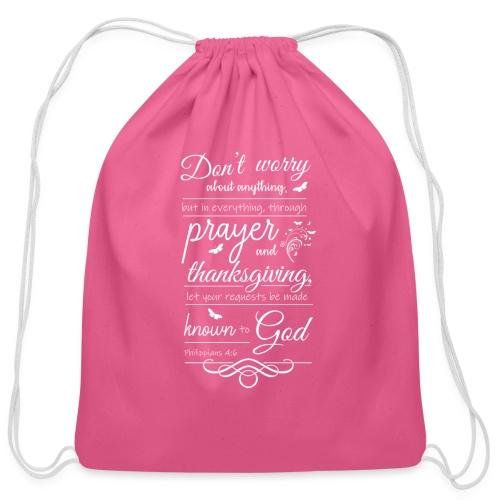 philippians 4:6 - Cotton Drawstring Bag