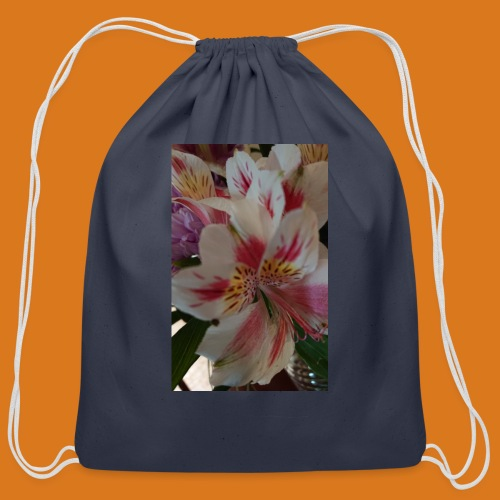 Stop and Smell - Cotton Drawstring Bag