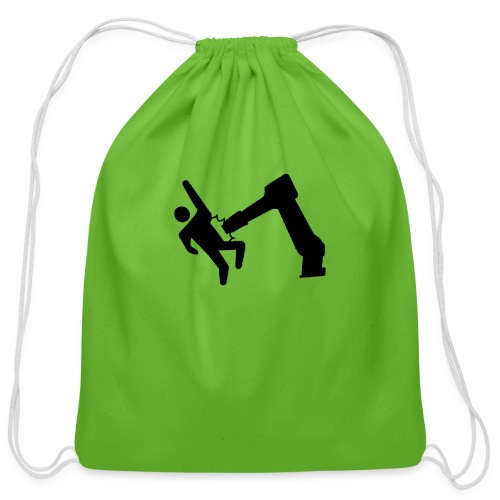 Robot Wins! - Cotton Drawstring Bag
