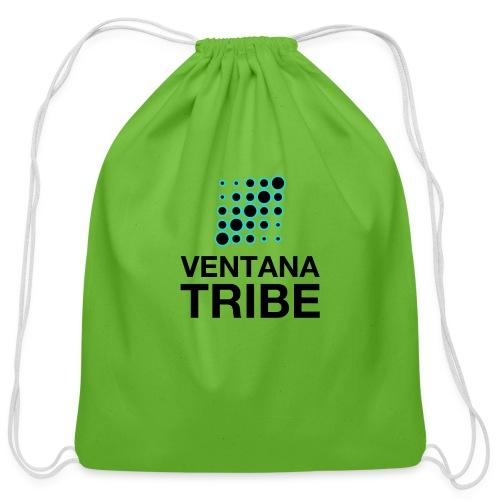 Ventana Tribe Black Logo - Cotton Drawstring Bag