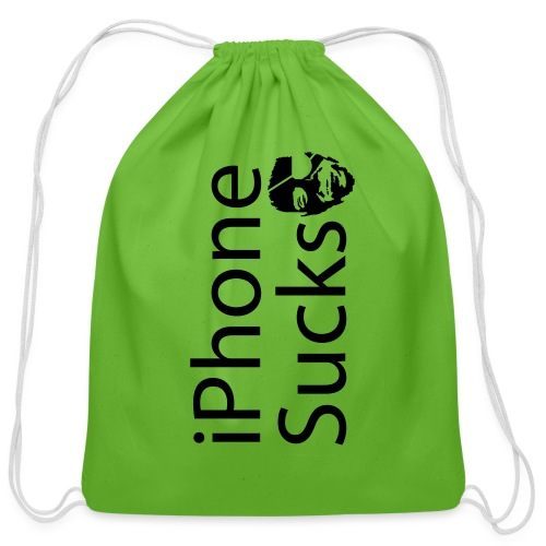 iPhone Sucks - Cotton Drawstring Bag