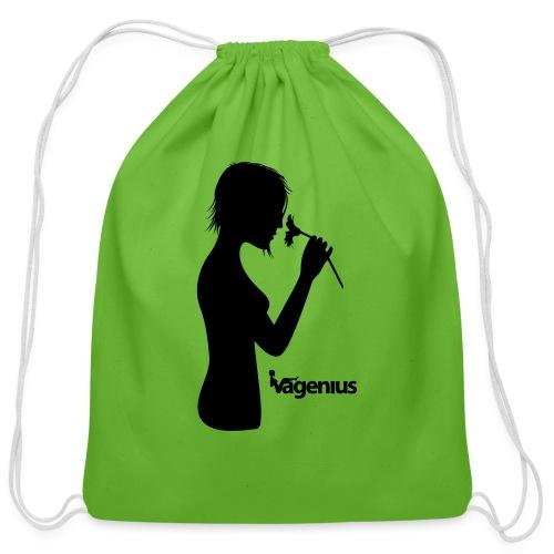 flower girl - Cotton Drawstring Bag