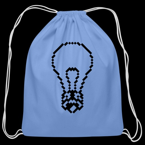 lightbulb - Cotton Drawstring Bag