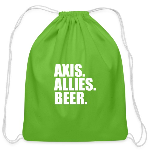 Axis. Allies. Beer. Axis & Allies - Cotton Drawstring Bag