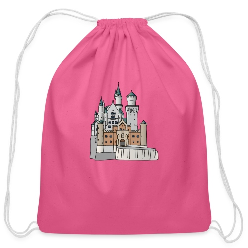 Neuschwanstein Castle, Bavaria - Cotton Drawstring Bag