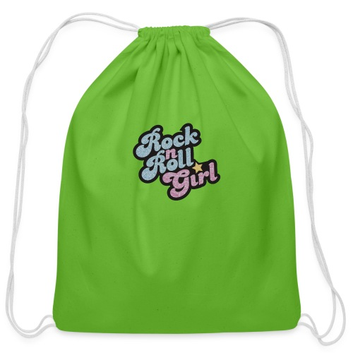 Rock n Roll Girl - Cotton Drawstring Bag