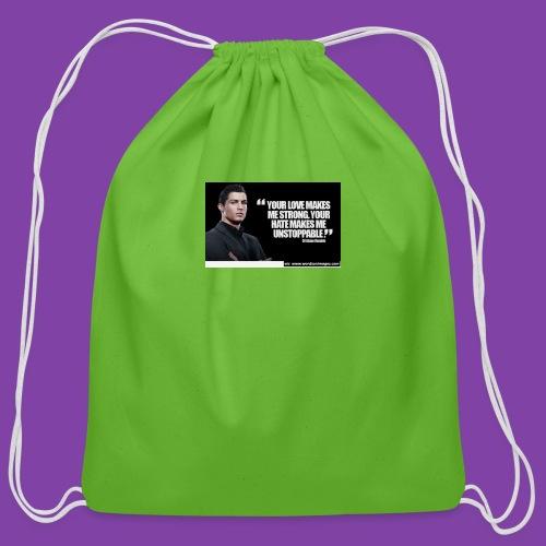 255777-Cristiano-ronaldo------quote-w - Cotton Drawstring Bag