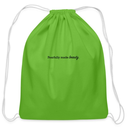 fearfully made beauty - Cotton Drawstring Bag