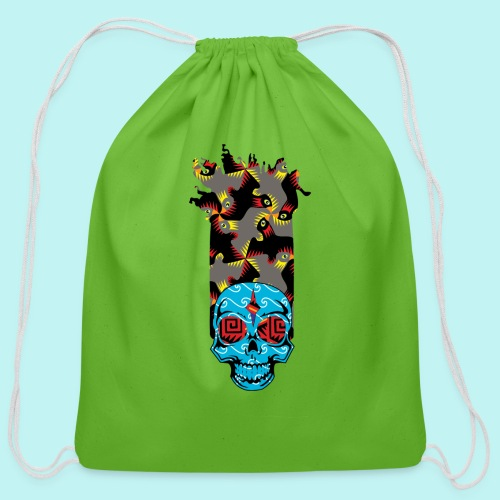 90s KID SKULLY - Cotton Drawstring Bag