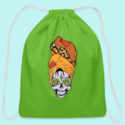 ERYKAH BADU SKULLY - Cotton Drawstring Bag