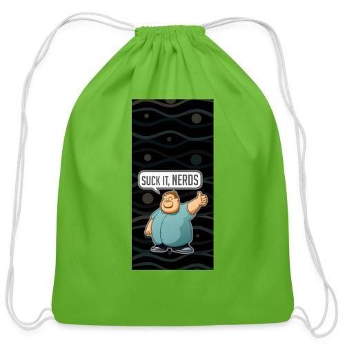nerdiphone5 - Cotton Drawstring Bag