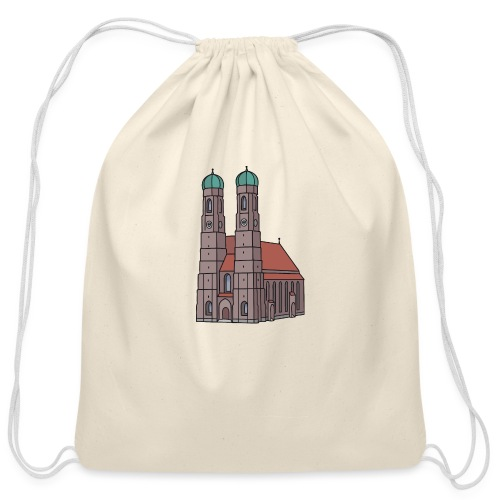 Munich Frauenkirche - Cotton Drawstring Bag