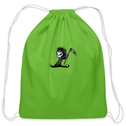 the grim - Cotton Drawstring Bag
