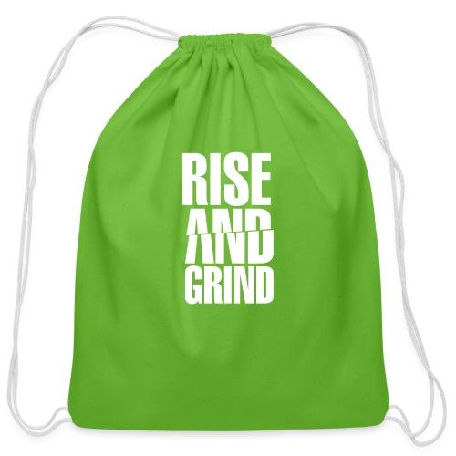 Rise & Grind - Cotton Drawstring Bag