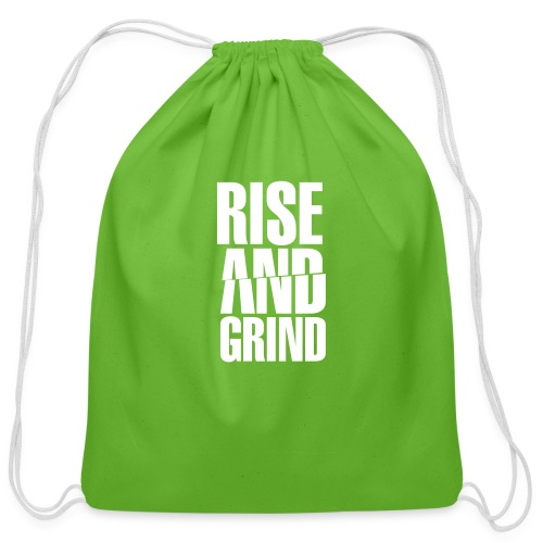 Rise & Grind - Cotton Drawstring Bag