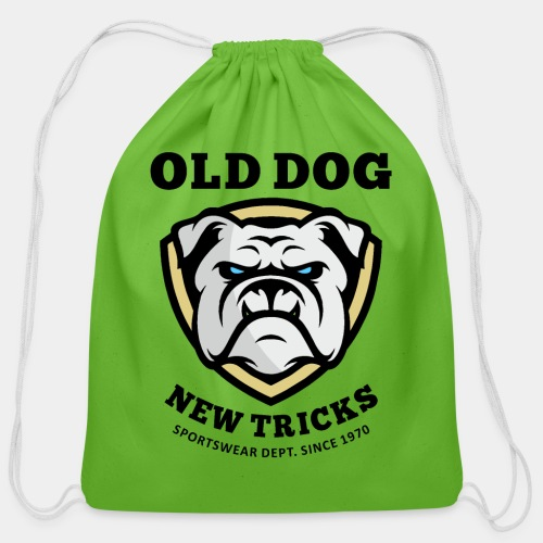 old dog new tricks - Cotton Drawstring Bag