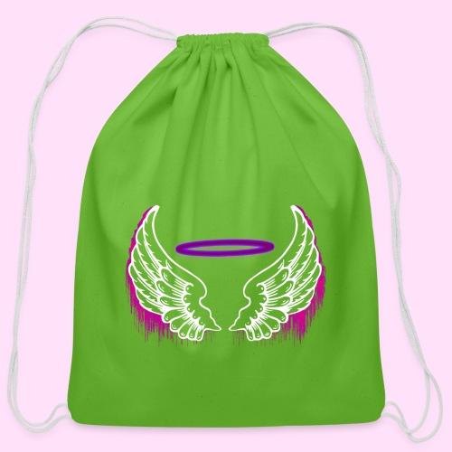 Neon Drip - Cotton Drawstring Bag