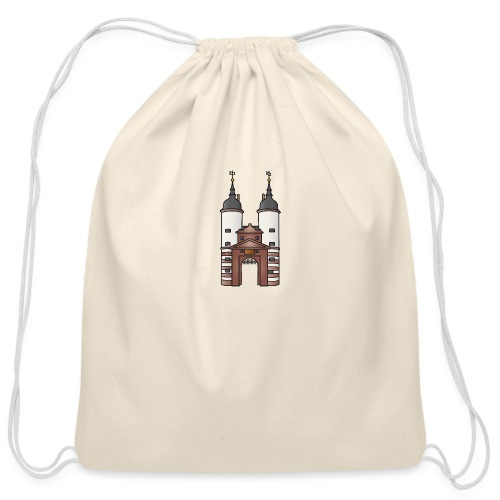 Bridge gate Heidelberg, FRG - Cotton Drawstring Bag