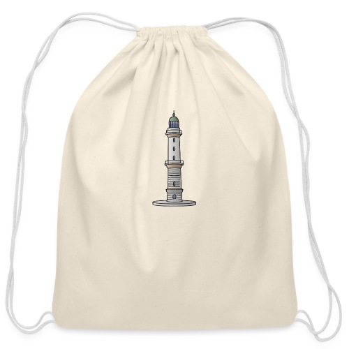 Lighthouse Warnemünde Rostock - Cotton Drawstring Bag