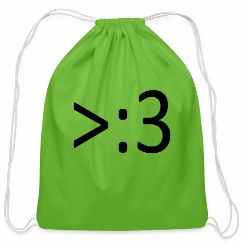 >:3 - Cotton Drawstring Bag