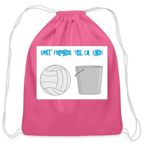 Best Friends Till the End! - Cotton Drawstring Bag
