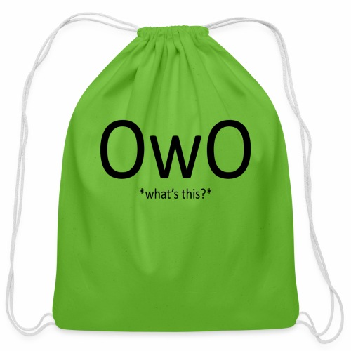 OwO *What's this* - Cotton Drawstring Bag