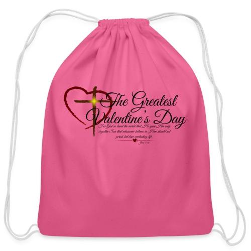 The greatest valentine's day - Cotton Drawstring Bag