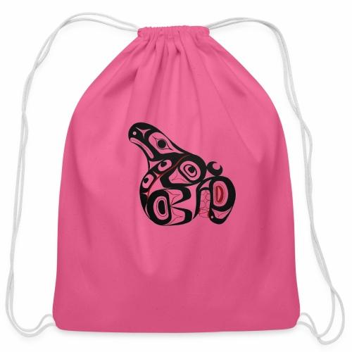 Killer Whale - Cotton Drawstring Bag