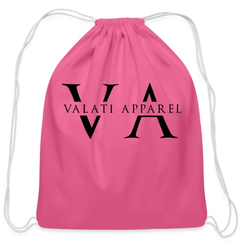 VA Strikethrough - Cotton Drawstring Bag