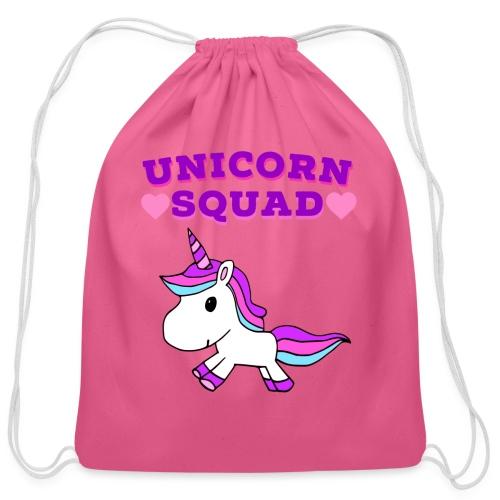Unicorn Squad! - Cotton Drawstring Bag