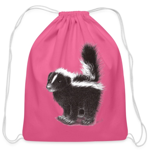 Cool cute funny Skunk - Cotton Drawstring Bag