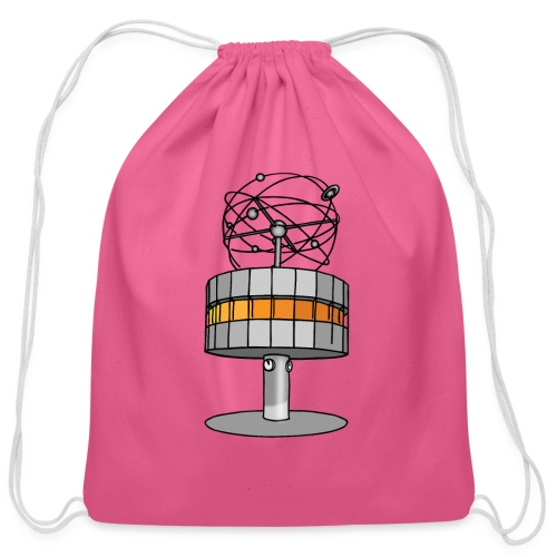 World time clock Berlin - Cotton Drawstring Bag